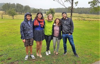 SASP summer school, Kioloa, Australia: (from left to right) Thomas, Amrita, Katharina, Jessica, Andre