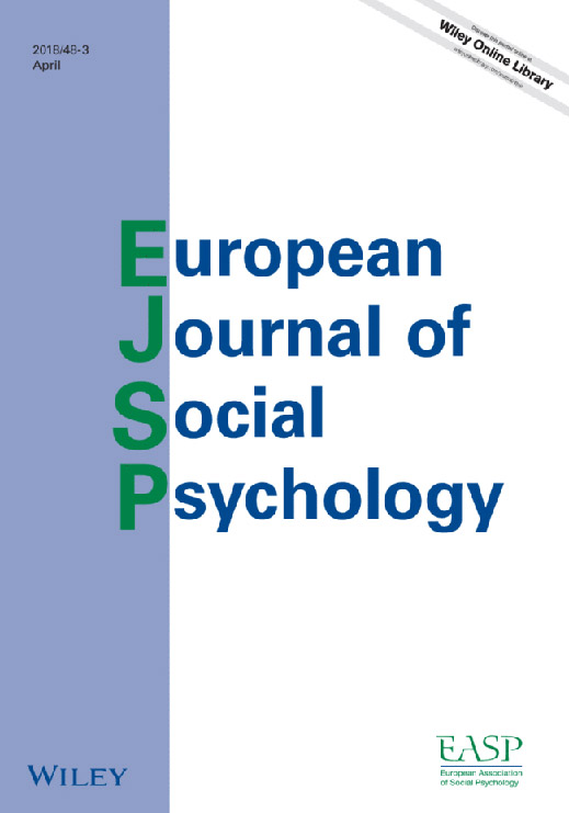 European Journal of Social Psychology Cover