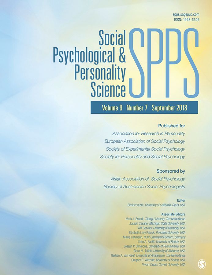 Social Psychological and Personality Science Cover