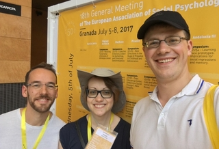 Lukas Wolf (left) & Paul Hanel (right) at the 2017 EASP General Meeting in Granada