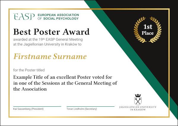 Poster Award Sample