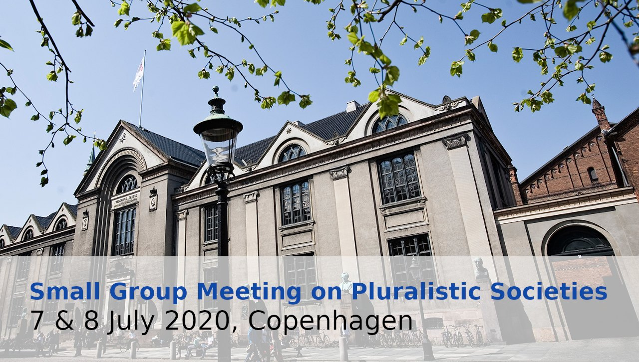 Small Group Meeting on Pluralistic Societies